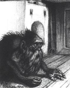 Кузн. Домовой. Картина Ивана Билибина, 1934 г.