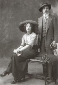 Белый со своей первой женой Асей Тургеневой