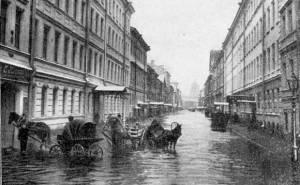 Обитель, Большая Подъяческая улица во время наводнения 25 ноября 1903 года.